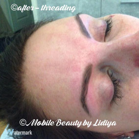 eyebrow threading after lidiya mobile beauty st albans home visit