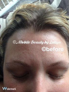 eyebrow threading and tint and eyelash tint before lidiya st albans mobile home visit