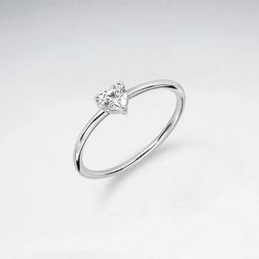 Zirkoniaherz-Ring