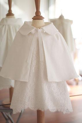 Cap baptême bébé velours de coton printemps été automne fil de légende magasin Paris Neuilly-sur-Seine envoie sur toute la France