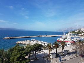 Marina Hafen Baska Voda Makarska Riviera Dalmatien Kroatien Yachtcharter Eigneryachten Charteryachten Segelyachten Katamarane Liegeplätze kroatische Adria