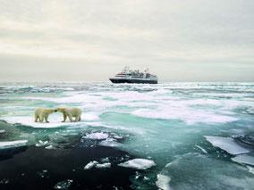 MAG Lifestyle Magazin Silversea Cruises Expeditionsschiff Silver Explorer Nordostpassage Luxus Schiffe Kreuzfahrten Expeditionen Eleganz Eisbären