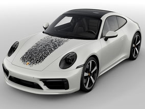 MAG Lifestyle Magazin Porsche Exclusive Manufaktur 911 Elfer personalisieren persönlich Fingerabdruck innovatives Druckverfahren Karosserie Lackierung Individualität