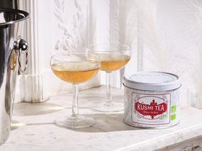 MAG Lifestyle Magazin Bio eleganter Tee Kusmi Tea White Bellini Cocktail venezianischer Kultcocktail