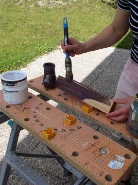Comment fabriquer un cheval de bois : fabrication de la tête du cheval de bois Beau Prince. La peinture.