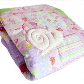 Babydecke rosa lila mit Schnecke