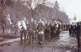 Bild:Wünschendorf Erzgebirge Feuerwehr 1931