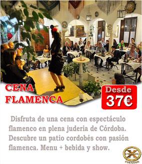 Cena con espectáculo flamenco Cordoba