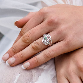 Oak Leaves Wedding Ring New Forest Wedding Shoot