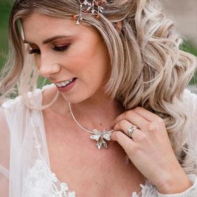 Wedding Shoot New Forest - Beech Flower Necklace