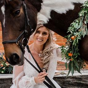 Horseback Bride Wedding Shoot New Forest