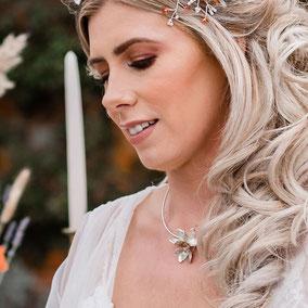 Beech Flower Necklace - New Forest Wedding Shoot