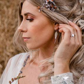 Long Leaves Earrings - New Forest Wedding Shoot