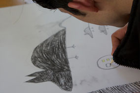 LichtwarkSchule-Kunstkurs für Jugendliche mit Fluchterfahrung