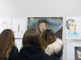 Abschluss-Ausstellung im Altonaer Museum, Talentschmiede#6 Stipendiaten der LichtwarkSchule, Oktober 2017 Foto: R. Palte