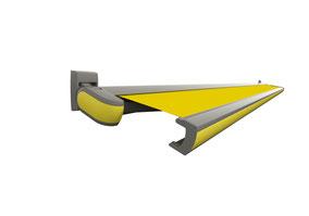 markilux Kassettenmarkise gelb mit frontblende in gelb