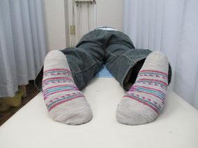 整体 骨盤矯正 猫背矯正 O脚矯正 施術後 男性 八街市在住 ①