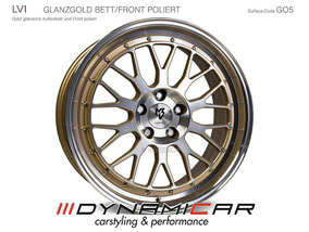 MB DESIGN LV1 GOLD GLANT FRONT POLIERT