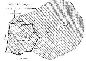 Teboursouk (Thubursicum Bure) : Plan de la citadelle byzantine