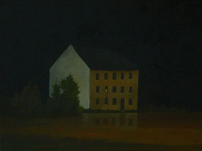 """Martin Guido Becker """"Einsames Haus"""", 2016, Öl/Lwd, 30/40 cm"""