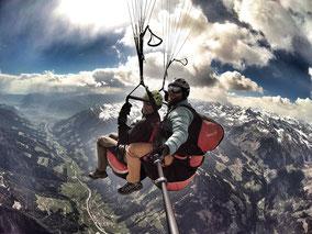 Gleitschirm Tandemflug Paragliding Flug in Meran - Südtirol
