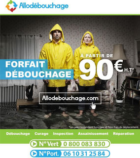 Forfait Débouchage 90€/ht