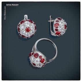 предметная съемка для каталога ювелирных украшений из серебра в Харькове