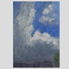 Klaus Fußmann - Wolken bei Kirchnüchel