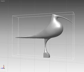 Escultura de Pájaro, para fundición