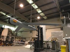 Modelo Dron de la Armad Española, En exhibición en el Museo Naval, Madrid