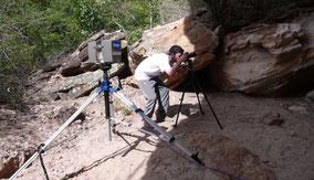 Scan 3D en Toca da Extrema II - Yacimiento en el Parque Nacional Serra de Capivara, Brasil