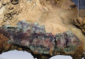 Scan 3d y Modelo Panel Rupestre Cueva de Tito de Bustillo