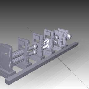 Modelo de Tren de laminado, Maquina de Watt 1850