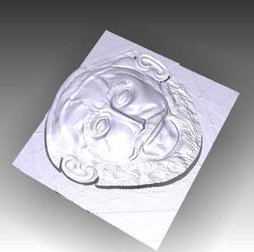 3D Máscara de Agamenos, atrezzo para película