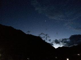 大菩薩嶺に輝く金星