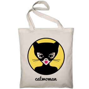ICONS ICONES CATWOMAN ILLUSTRATION AFFICHE TOTE BAG SAC / CREATION ORIGINALE © Stephanie Gerlier / T FOR TIGER