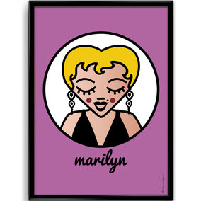 ICONS ICONES MARILYN MONROE ILLUSTRATION AFFICHE POSTER ART PRINT / CREATION ORIGINALE © Stephanie Gerlier / T FOR TIGER
