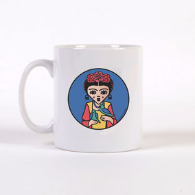 "MUG ""BLUE FRIDA"" copyright Stephanie Gerlier 2018 / T FOR TIGER"
