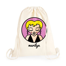 ICONS ICONES MARILYN MONROE ILLUSTRATION SAC A DOS / CREATION ORIGINALE © Stephanie Gerlier / T FOR TIGER