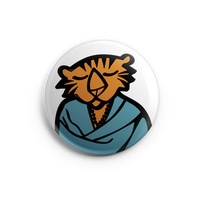 BADGE MAGNET MIROIR by T FOR TIGER / copyright Stephanie Gerlier
