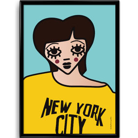 """AFFICHE """"NEW YORK""""  copyright Stephanie Gerlier 2018 / T FOR TIGER"""