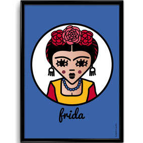 ICONS ICONES FRIDA KAHLO ILLUSTRATION AFFICHE POSTER ART PRINT / CREATION ORIGINALE © Stephanie Gerlier / T FOR TIGER