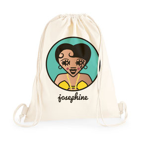 ICONS ICONES JOSEPHINE BAKER ILLUSTRATION SAC A DOS / CREATION ORIGINALE © Stephanie Gerlier / T FOR TIGER