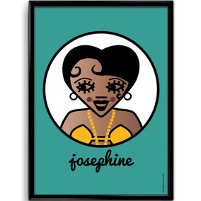 ICONS ICONES JOSEPHINE BAKER ILLUSTRATION AFFICHE POSTER ART PRINT / CREATION ORIGINALE © Stephanie Gerlier / T FOR TIGER