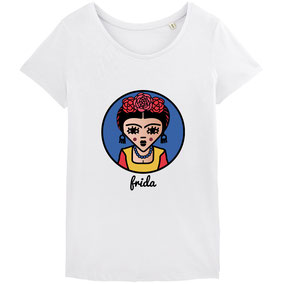 "TSHIRT ""BLUE FRIDA""  copyright Stephanie Gerlier 2018 / T FOR TIGER"