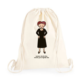 ICONS ICONES EDITH PIAF ILLUSTRATION SAC A DOS TOTE BAG / CREATION ORIGINALE © Stephanie Gerlier / T FOR TIGER