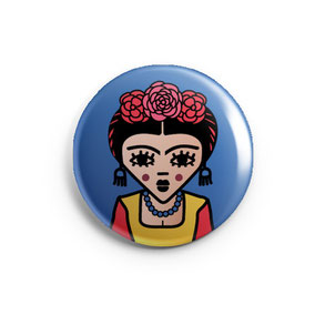 ICONS ICONES FRIDA KAHLO ILLUSTRATION BADGE MAGNET MIROIR / CREATION ORIGINALE © Stephanie Gerlier / T FOR TIGER