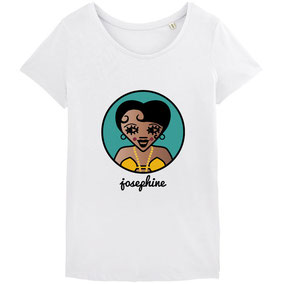 ICONS ICONES JOSEPHINE BAKER ILLUSTRATION T-SHIRT / CREATION ORIGINALE © Stephanie Gerlier / T FOR TIGER