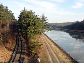Hafenbahn neben dem Kanal