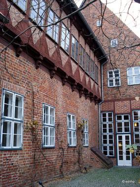 Außenfassade im Hinterhof